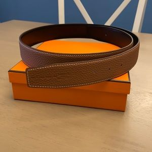 Hermès 38mm black & gold belt